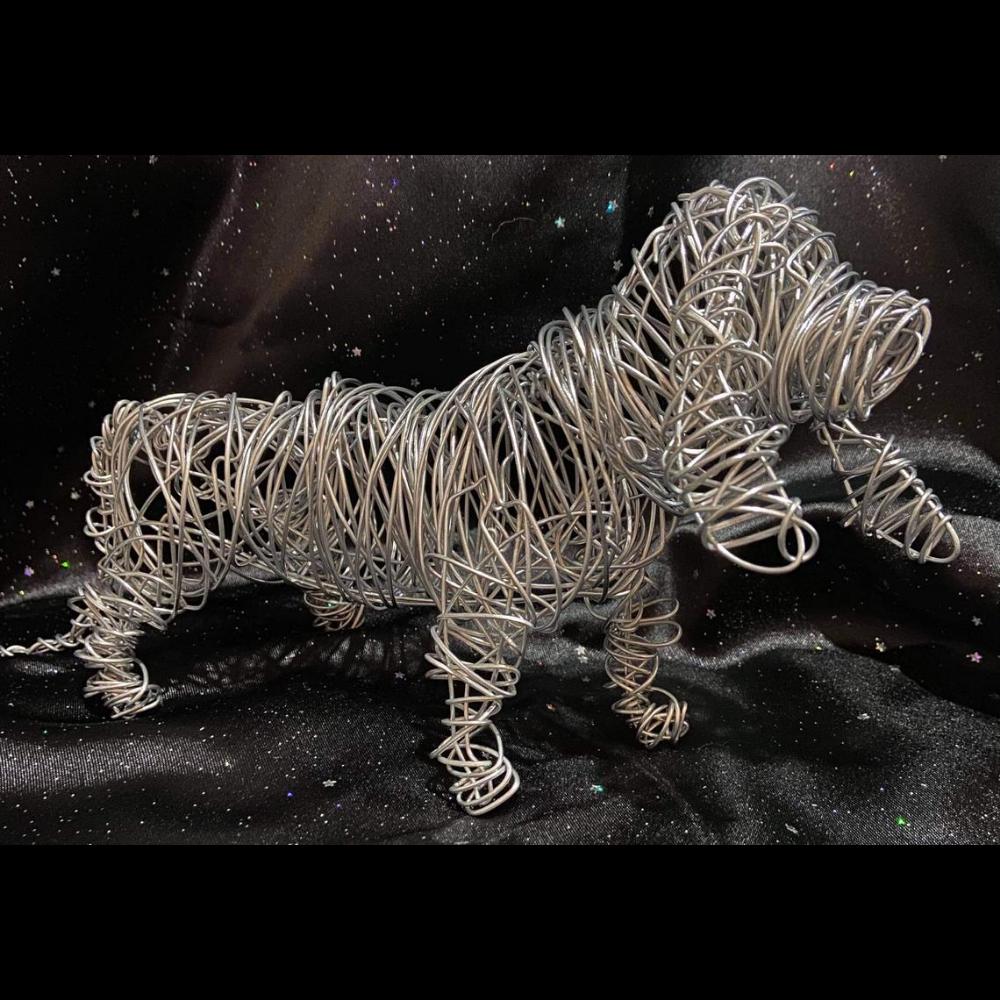 Wire Basset Sculpture