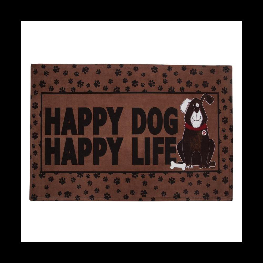 Happy Dog Happy Life Doormat