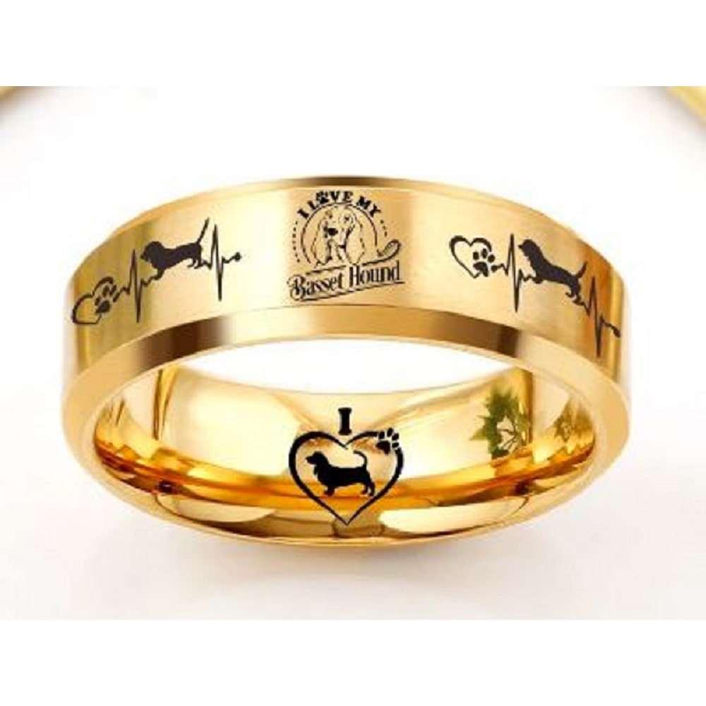 Gold Etched Ring