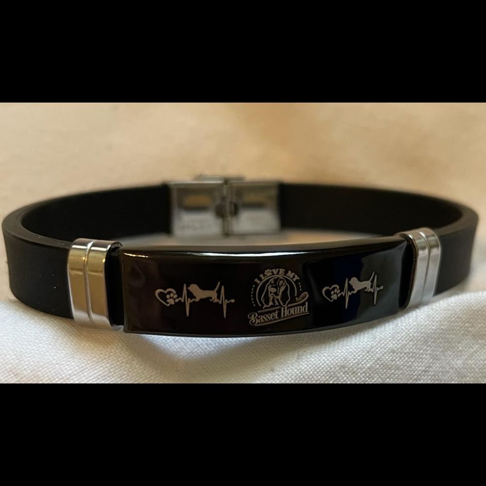 Black Etched Bracelet