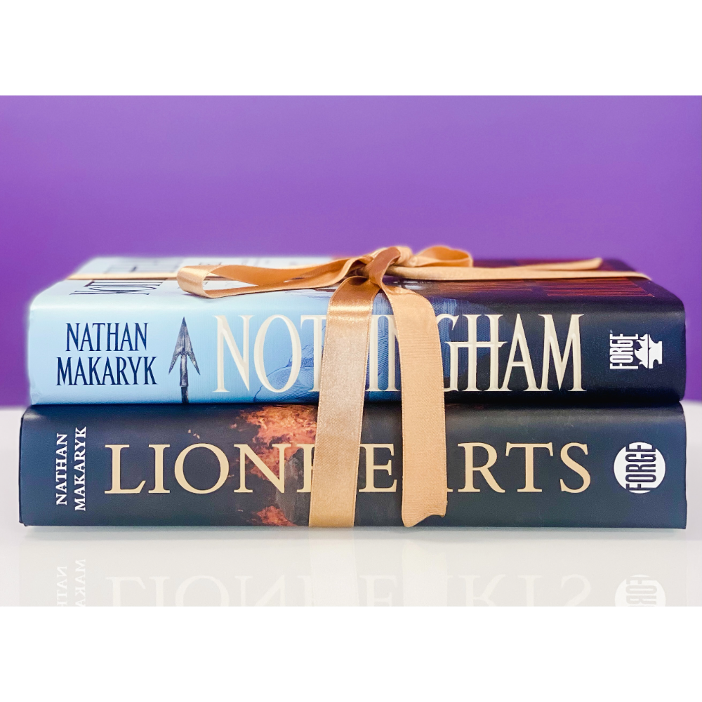 Autographed Copies of Nottingham & Lionheart by Nathan Makaryk