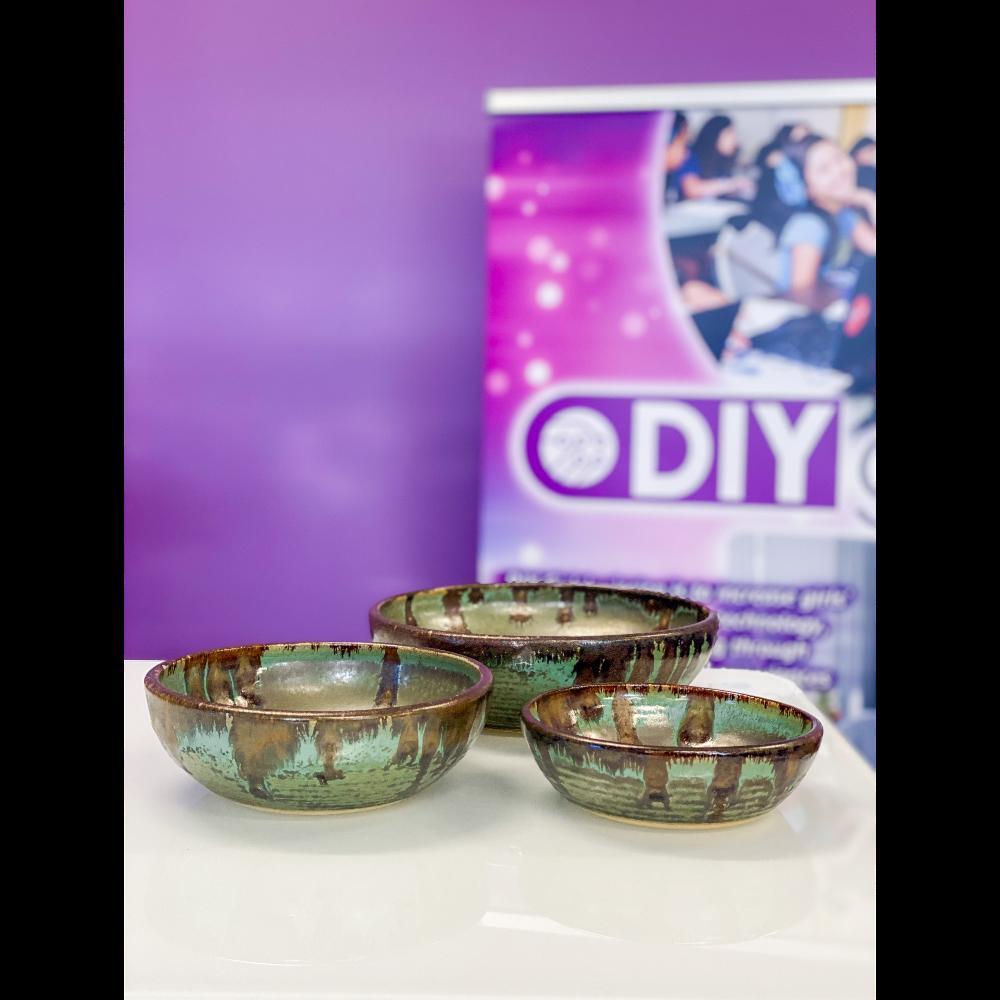 3 Piece Ceramic Pottery Bowls