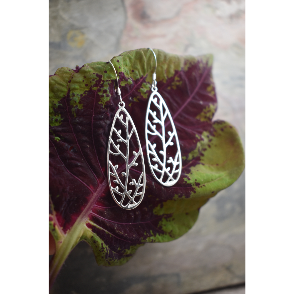 Sterling Silver budding branches earrings