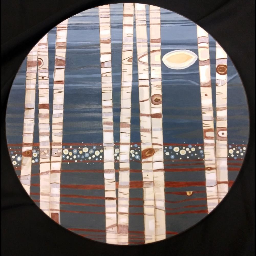 """Gatherings - Wishful Thinking"" wood panel"