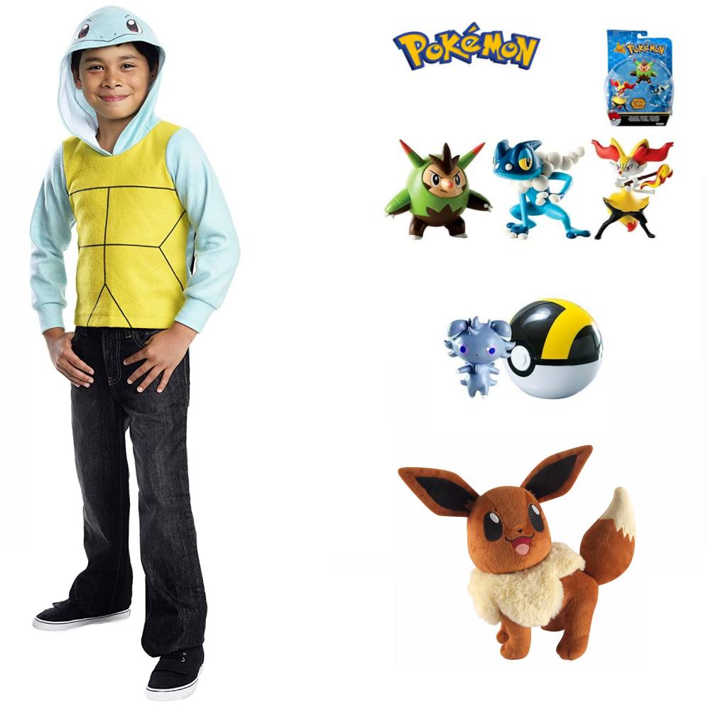 Pokemon Squirtle Hoodie Costume & Toy Items