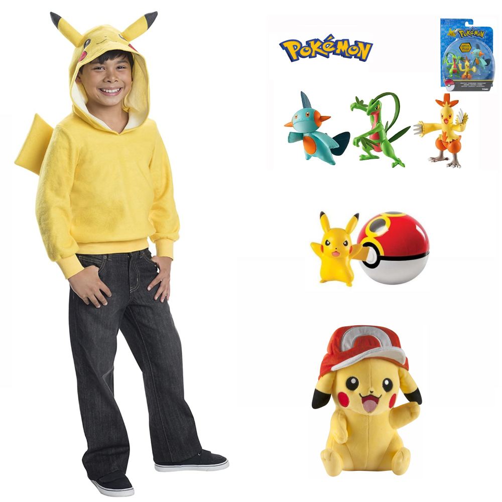 Pokemon Pikachu Hoodie Costume & Toy Items