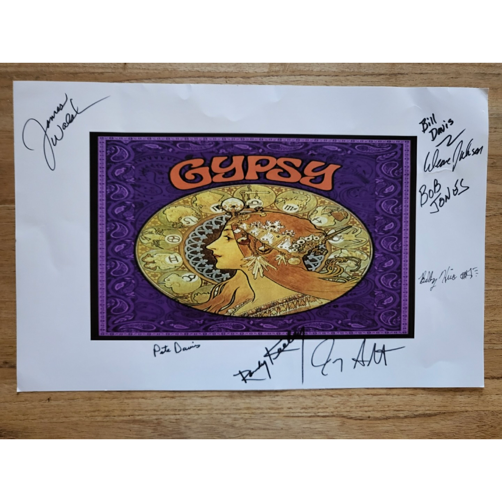 Gypsy Art Signed by the band in 2013